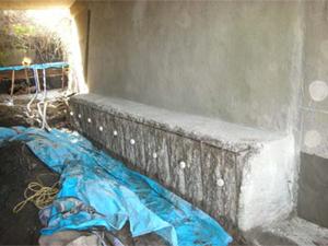 断面修復工 犠牲陽極材設置工  ガルバシールドXP設置完了