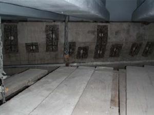 犠牲陽極材設置工  ガルバシールドXP設置完了